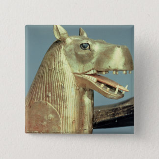 Funerary bedhead in the form of the goddess pinback button