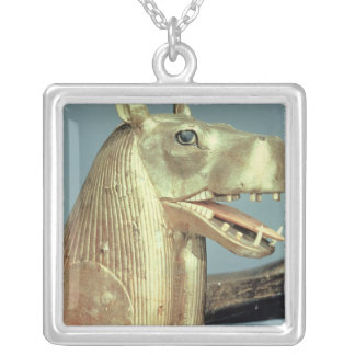 Funerary bedhead in the form of the goddess square pendant necklace