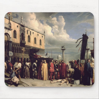Funerary honours given to Titian who died in Venic Mousepad