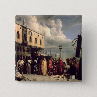 Funerary honours given to Titian who died in Venic Pinback Button
