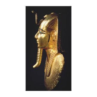 Funerary mask of Psusennes I Canvas Print