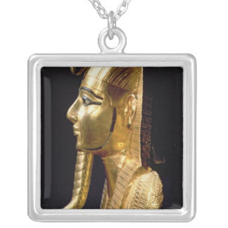 Funerary mask of Psusennes I Silver Plated Necklace