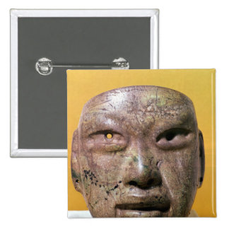 Funerary mask, Olmec, from Mexico Pinback Button