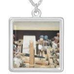 Funerary model of a carpentry workshop custom necklace