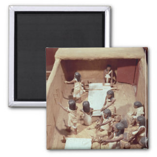 Funerary model of a textile workshop 2 inch square magnet