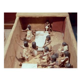 Funerary model of a textile workshop postcard