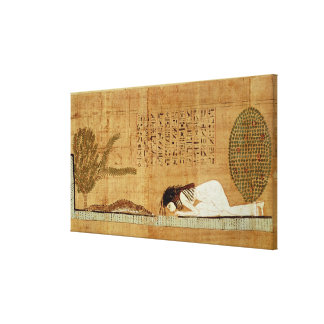 Funerary papyrus depicting gallery wrapped canvas