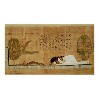 Funerary papyrus depicting poster