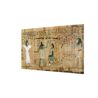 Funerary papyrus of Djedkhonsouefankh Canvas Print