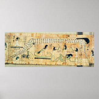 Funerary papyrus of Djedkhonsouefankh Poster