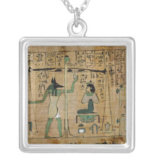 Funerary papyrus of Djedkhonsouefankh Square Pendant Necklace