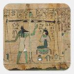 Funerary papyrus of Djedkhonsouefankh Square Stickers