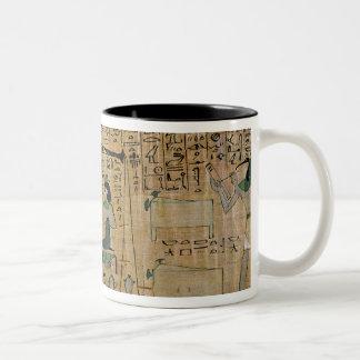 Funerary papyrus of Djedkhonsouefankh Two-Tone Coffee Mug