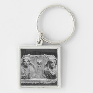 Funerary relief of a couple, from Palmyra, Syria Keychain