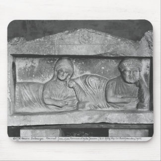 Funerary relief of a couple, from Palmyra, Syria Mouse Pad