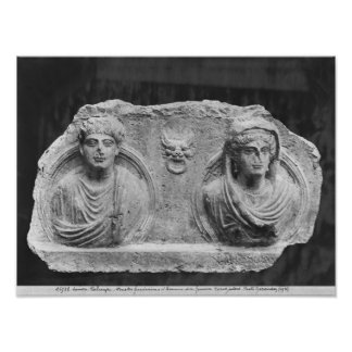 Funerary relief of a couple, from Palmyra, Syria Poster