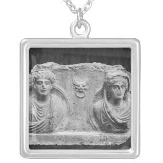 Funerary relief of a couple, from Palmyra, Syria Silver Plated Necklace