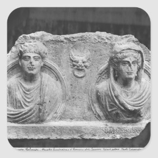 Funerary relief of a couple, from Palmyra, Syria Square Sticker