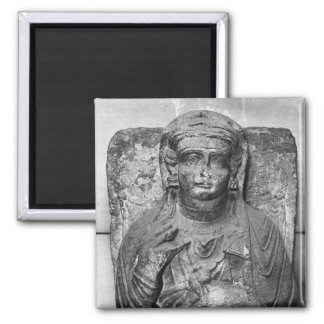 Funerary relief of a female figure, from magnet