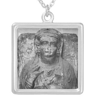 Funerary relief of a female figure, from jewelry