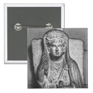 Funerary relief of a female figure, from Palmyra Pinback Button