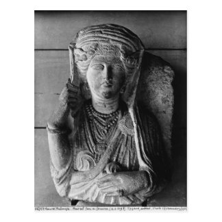 Funerary relief of a female figure, from Palmyra Postcard