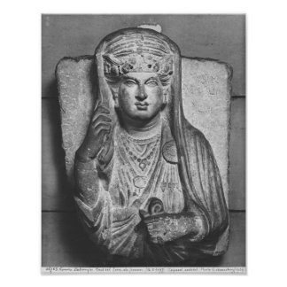 Funerary relief of a female figure, from Palmyra Poster