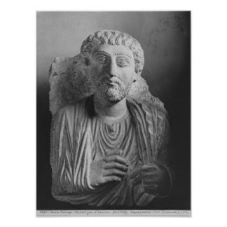 Funerary relief of a male figure, from Palmyra Print