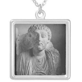 Funerary relief of a male figure, from Palmyra Silver Plated Necklace