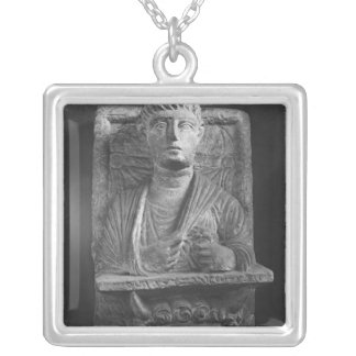 Funerary relief of Athenourou, from Palmyra Silver Plated Necklace