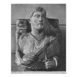 Funerary relief of Jarhai, from Palmyra, Syria Posters