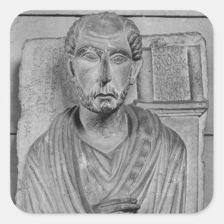 Funerary relief of Marcus J. Aristides Square Sticker