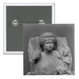 Funerary relief of mother and child from button
