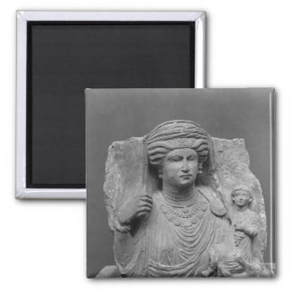 Funerary relief of mother and child from magnet