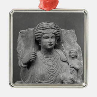Funerary relief of mother and child from metal ornament