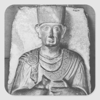 Funerary relief of Zabdale, from Palmyra, Syria Square Sticker