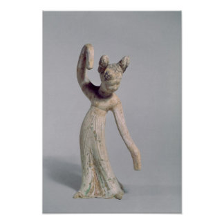 Funerary statue of a dancer, Tang Dynasty Poster
