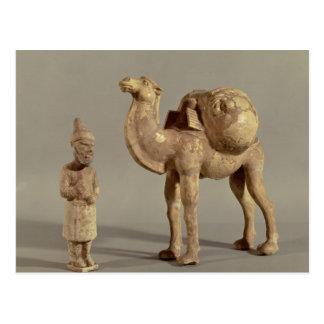 Funerary statuettes of a laden camel postcard