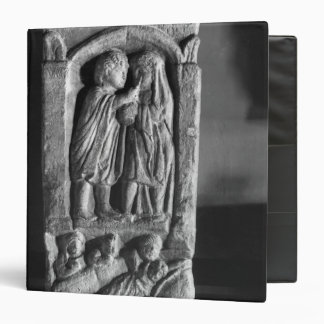 Funerary stela depicting a doctor vinyl binder