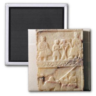 Funerary stela, from Yemen 2 Inch Square Magnet