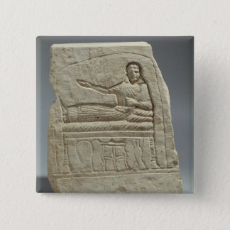 Funerary stela in the name of the lady Artemis, fr Pinback Button