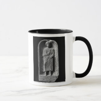 Funerary stela of a man, discovered in Palmyra Mug
