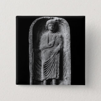 Funerary stela of a man, discovered in Palmyra Pinback Button