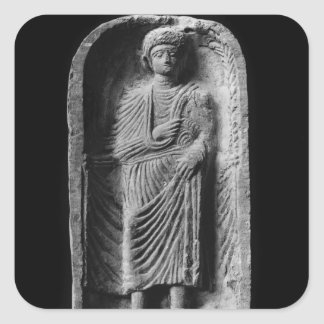 Funerary stela of a man, discovered in Palmyra Square Sticker