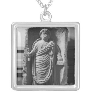 Funerary stela of a notary, from Deux-Sevres Silver Plated Necklace