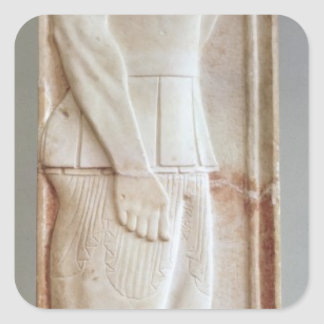 Funerary stela of the Hoplite Aristion Square Sticker