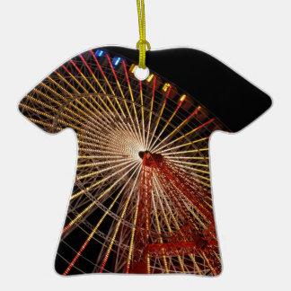 Funfair Night.jpg de la rueda grande Adorno De Cerámica En Forma De Camiseta