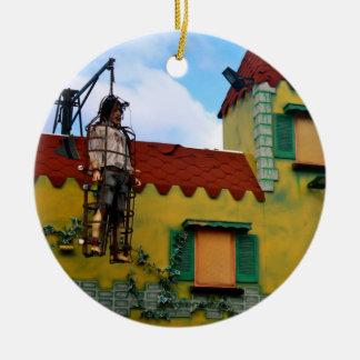 Funfair Ride Haunted House Ornament