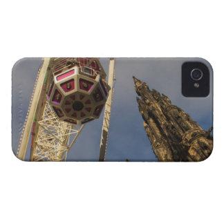 Funfair y monumento escocés Edimburgo Escocia iPhone 4 Carcasas