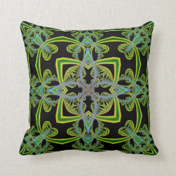 Funfractal Scrolls Kaleidoscope Design No 1 Throw Pillow